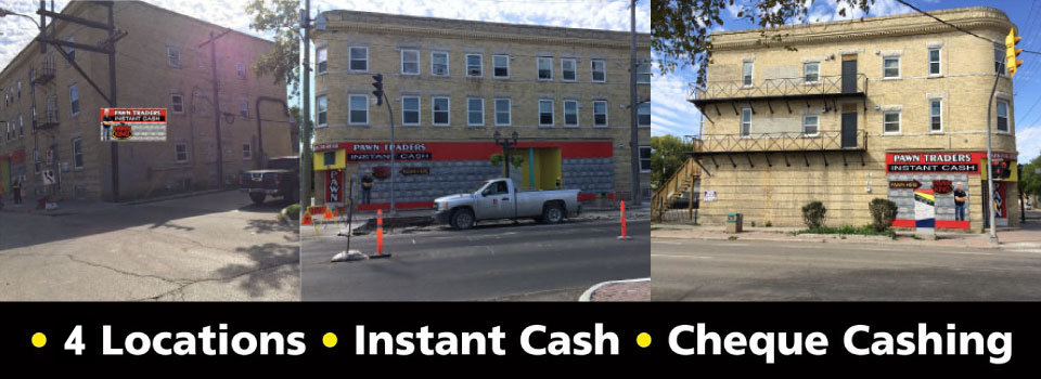 6 locations, instant cash, cheque cashing - exterior of our shop